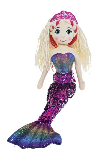 45cm Meri Dark Pink Mermaid Flip Sequined Tail