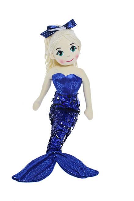 45cm Sally Navy Blue Mermaid Flip Sequined Tail