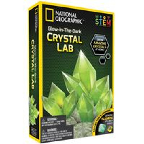 National Geographic Glow In The Dark Crystal - Green