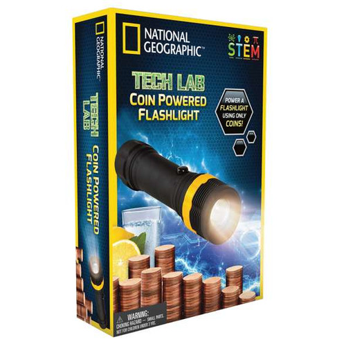 National Geographic Tech Lab Coin Powered Flashlight