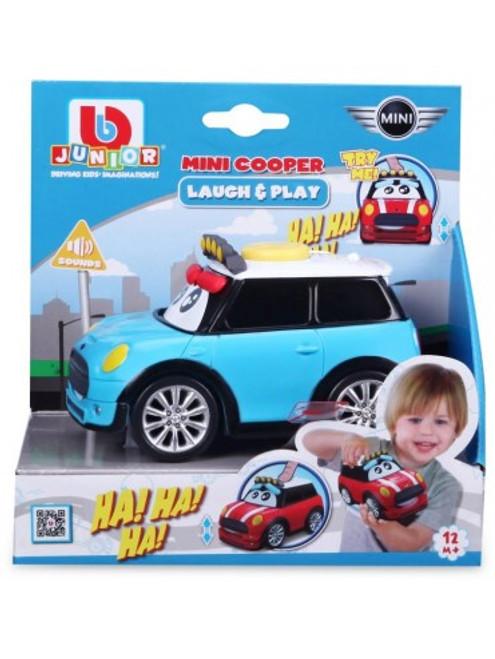 Bburago Junior Laugh & Play Mini Cooper S with Sound - Blue