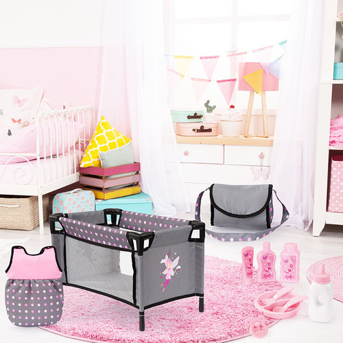 Bayer Doll Travel Bed & Accessory Set