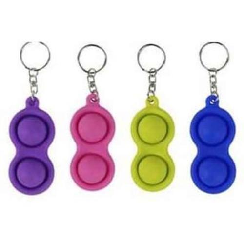 2 Dot 100% Silicon Sensory Fidget Toy Keychain