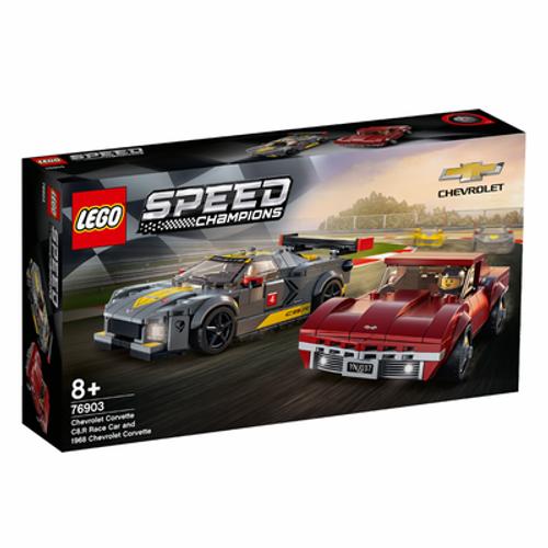 Lego - Chevrolet Corvette C8.R Race Car and 1968 Corvette