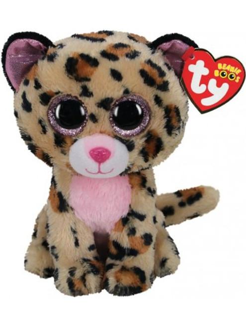 Beanie Boos Medium - Livvie Leopard Brown/Pink