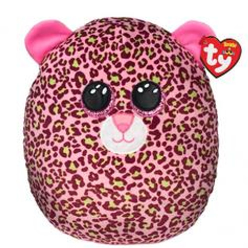Beanie Squish A Boo 14 Inch - Lainey Leopard Pink