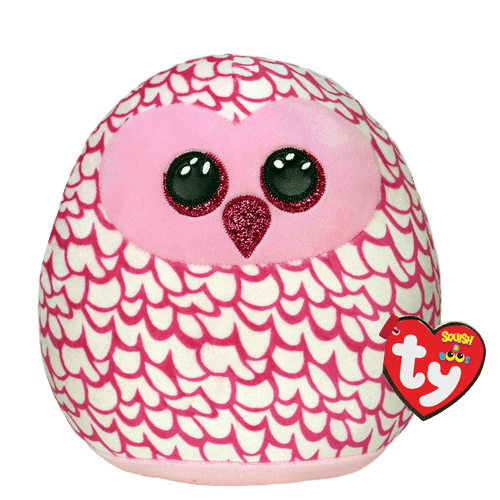 Beanie Squish A Boo 14 Inch - Pinky Owl Pink