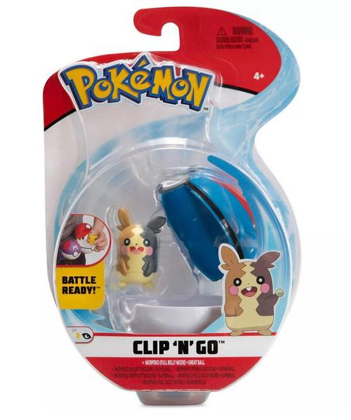 Pokemon Clip N Go - Morpeko (full belly mode) + Great Ball