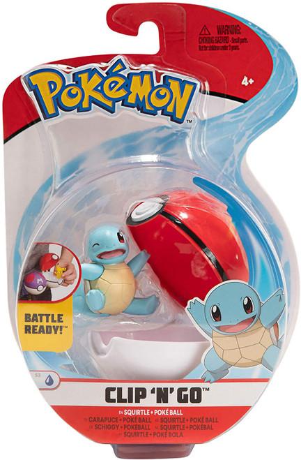 Pokemon Clip N Go - Squirtle + Pokeball