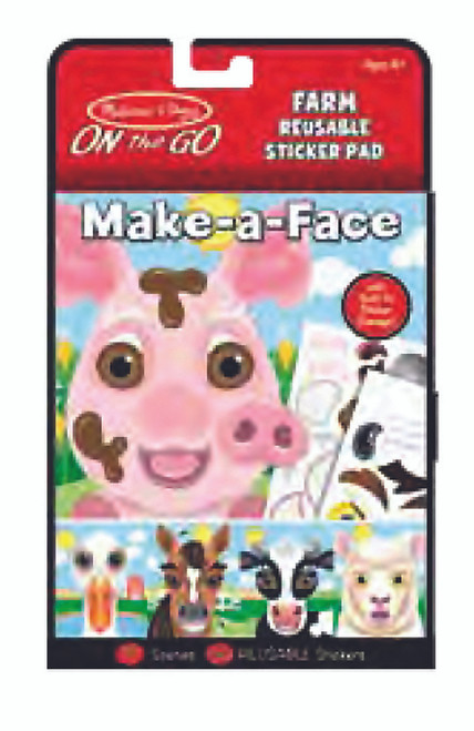 Melissa & Doug On The Go Reusable Stickers Make A Face Farm