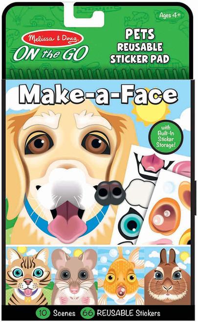 Melissa & Doug On The Go Reusable Stickers Make A Face Pets