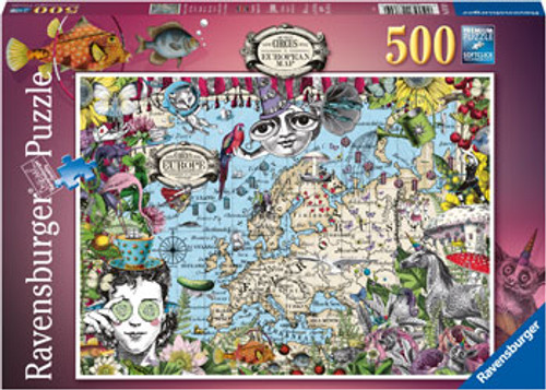 Ravensburger - European May Quirky Circus Puzzle 500 Piece