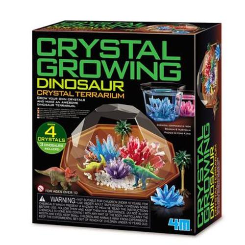 4M - Crystal Growing Dinosaur Crystal Terrarium