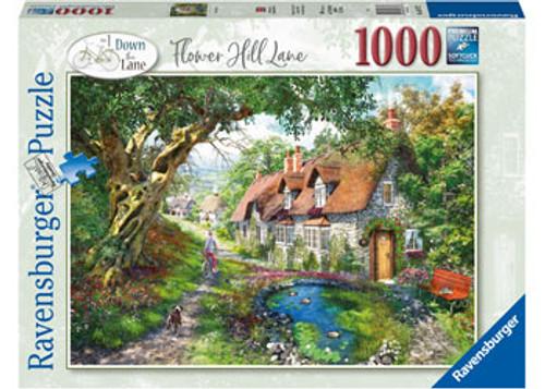 Ravensburger - Flower Hill Lane Puzzle 1000 Piece