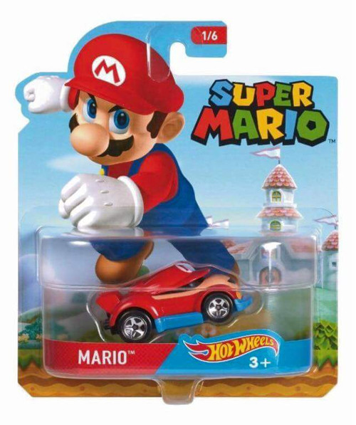 Hot Wheels Character Cars Super Mario - Mario