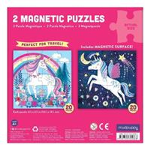 2 In 1 Travel Magnetic Puzzle - Unicorn & Mermaid