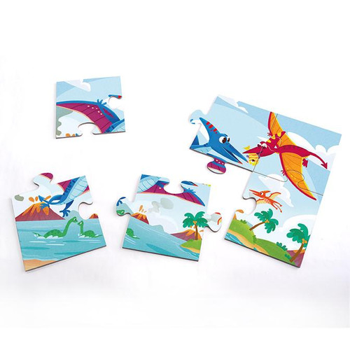 4 Puzzles In 1 Box - Dinosaurs