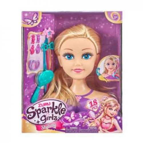 Sparkle Girlz Styling Head With Accessories AZT10097