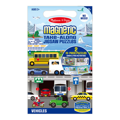 Melissa & Doug - Magnetic Jigsaw Puzzles  - Vehicles