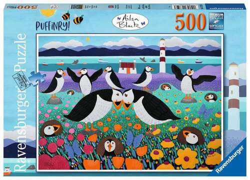 Ravensburger - Puffinry! Puzzle 500 Piece