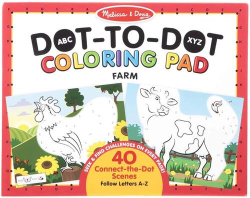 Melissa & Doug ABC Dot-to-Dot Colouring Pad - Farm