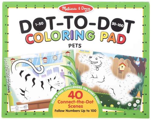 Melissa & Doug ABC Dot-to-Dot Colouring Pad - Pets
