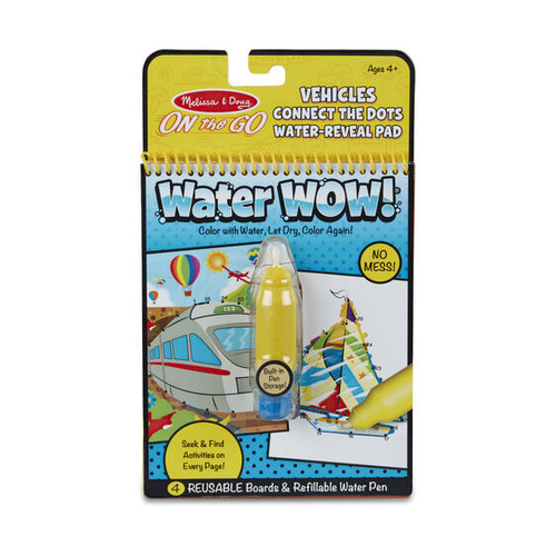Melissa & Doug On The Go Water Wow! Connect Dots Vehicles