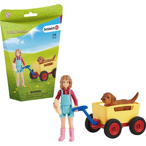 Schleich - Puppy Wagon Ride