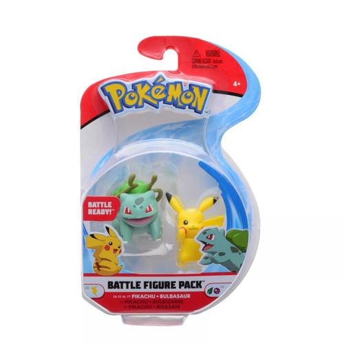 Pokemon Battle Figure Pack - Pikachu + Bulbasaur