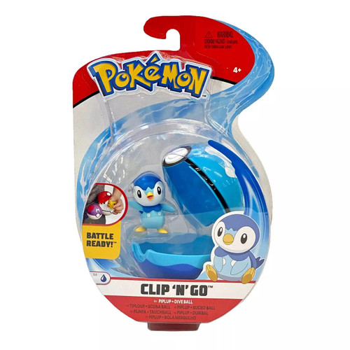 Pokemon Clip N Go - Piplup + Dive Ball