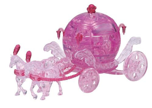 3D Royal Carriage Pink Crystal Puzzle