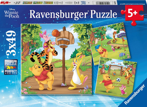 Ravensburger Winnie The Pooh Sports Day Puzzle 3x49 Pce