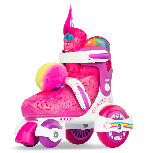 Trolls Klip Klop Adjustable Skates J11-1 Pink/White Poppy
