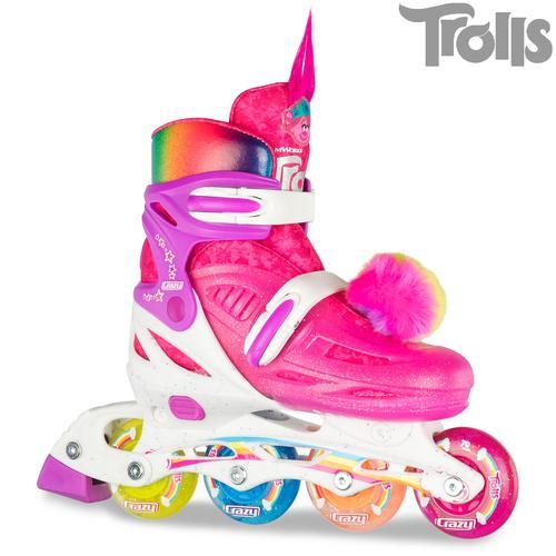 Trolls World Tour PoppySize Adjustable Inline Skates (J11-1)