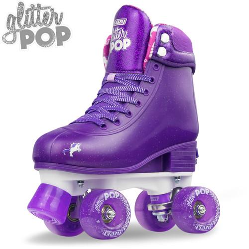 Glitter Pop Purple Adjustable Roller Skates (M3-6)