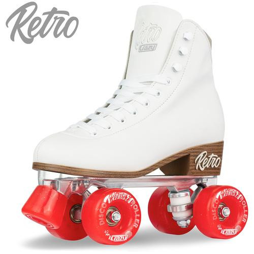Retro Roller Skates White (Eu43) Mens 10/ Ladies 11