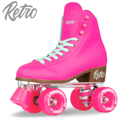 Retro Roller Skates Pink (Eu38) Mens 6/ Ladies 7