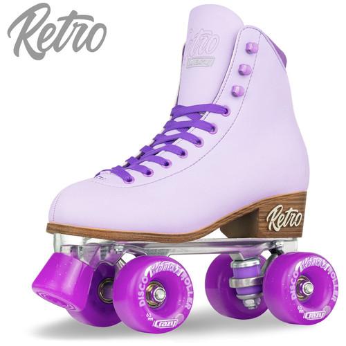 Retro Roller Skates Purple (Eu39) Mens 7/ Ladies 8