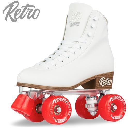 Retro Roller Skates White (Eu44) Mens 11/ Ladies 12