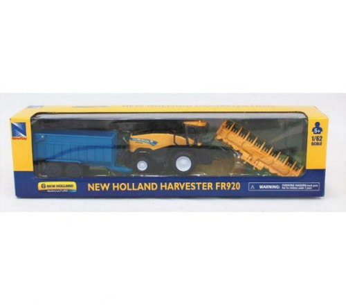 New Holland Harvester and Field Bin