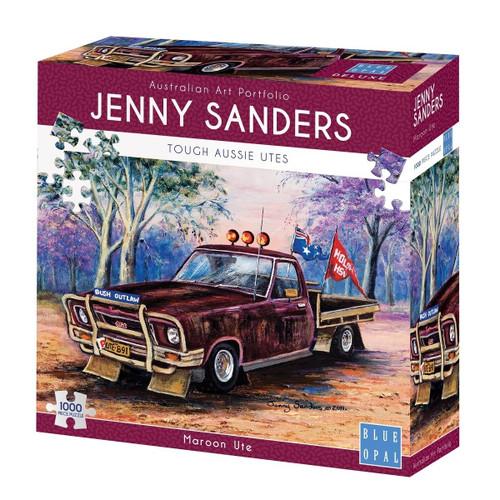 Blue Opal Jenny Sanders Maroon Ute 1000 Piece Puzzle