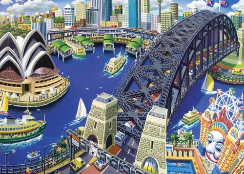 Blue Opal - Stephen Evans Luna Park 1000 Piece Puzzle