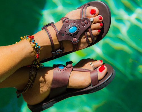 Cleopatra Buffalo  Leather Sandal