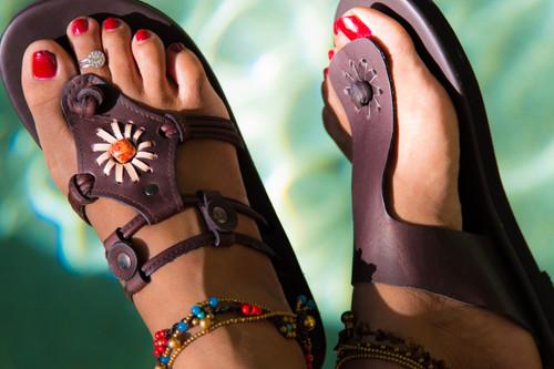Daisy Buffalo  Leather Sandal