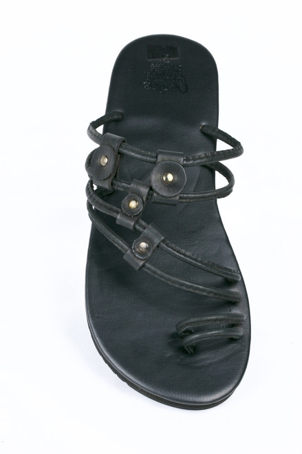 Buffalo  Leather can be worn as a slide or sandal simply by sliding the leather toggles  to the bottom of the sandal separating the 2 foot bands to convert to a heel strap. These sandals provide a light, stylish comfort