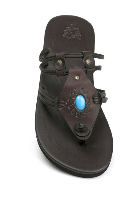 Poppy Buffalo Leather Sandal