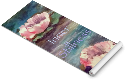 Everyone needs to find some time to find their own inner stillness. This mat will help be a comfortable reminder to find yours.  The Inner Stillness Yoga mat was created from an original Jacqueline Drake encaustic ( wax ) painting.
