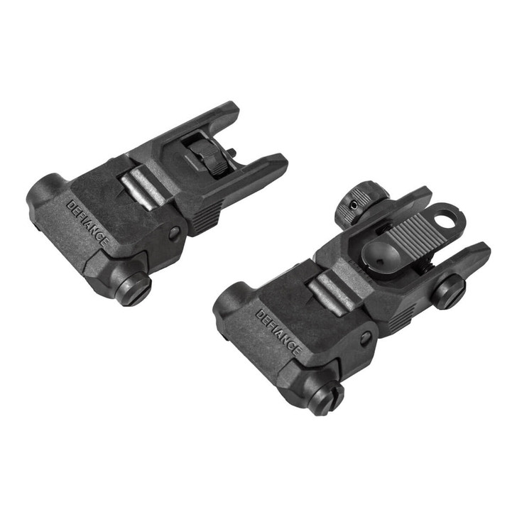 Defiance Low Profile Flip Up Sights for Picatinny Rail
