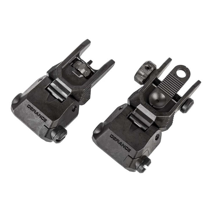Defiance Metal flip up sights for ar15 and other rifles