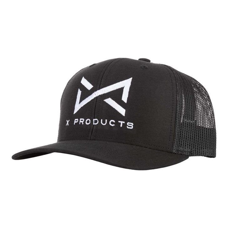 X products hat with logo - black